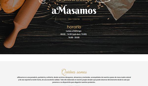 Página web para aMasamos